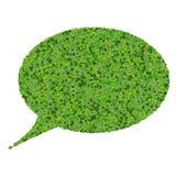 Discours de bulle fait à partir des feuilles vertes Photos libres de droits