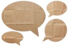 Discours de papier de bulle d'entretien images stock