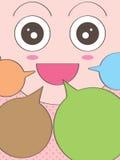 Discours heureux de visage Image stock