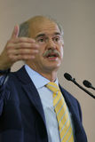 Discours par George Papandreou Photos libres de droits