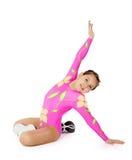 Discours par la jeune aérobic d'athlète Images stock