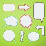 discours réglé de JPEG de formats procurables des bulles eps8 Photos stock