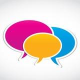 Discours social de groupe de medias Photo stock
