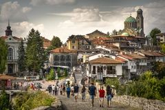 Discover the best Sightseeing in Veliko Tarnovo, Bulgaria. Veliko Tarnovo , Bulgaria , is located along the historical hills of Sveta Gora, Tsarevets and Royalty Free Stock Photos