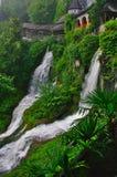 Two small Waterfalls in Beatushöhlen, Switzerland stock photo