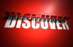 Discover concept, cut out in background. Discover concept, cut out in red background stock illustration