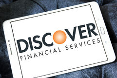 Discover financial services logo Royalty Free Stock Images