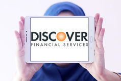 Discover financial services logo Royalty Free Stock Photo