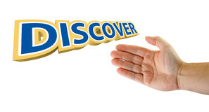 Discover hand Royalty Free Stock Image