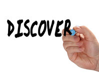 Discover hand marker Royalty Free Stock Photo