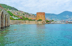 Discover the landmarks of Alanya Royalty Free Stock Images