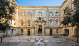 Discover malta - streets of mdina. Picture of an old palace at mdina Royalty Free Stock Images