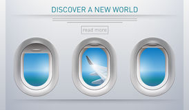 Discover a new world Stock Photo