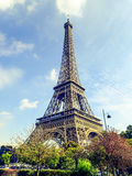 Eiffel Tower during the autumn. Walking in the street of Paris -Eiffel Tower Stock Photos