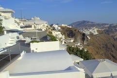 Discover Santorini blendend Stockfoto