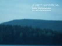 Discover. Vector.Blurred landscape, view of mountain forest and sky Royalty Free Stock Images