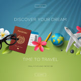 Discover your dream, time to travel Royalty Free Stock Images