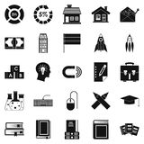 Discoverer icons set, simple style. Discoverer icons set. Simple set of 25 discoverer vector icons for web isolated on white background Royalty Free Stock Photo