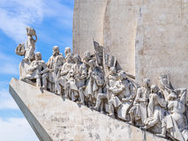 The Discoverers of Belem. Belem, Portugal - April 28, 2014: Monument to the Discoveries of the New World in Belem, Portugal stock photos