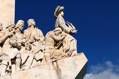Discoveries monument. Monument to the Discoveries in Lisbon, Portugal, on Tagus river Royalty Free Stock Photo