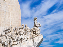 The Discoveries Monument. Belem, Portugal - April 28, 2014: Monument to the Discoveries of the New World in Belem, Portugal Stock Photos