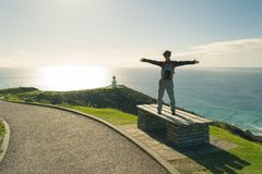 Discovering Cape Reinga in winter Stock Photography