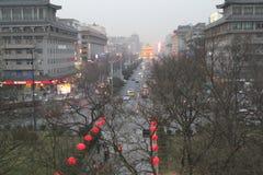 Discovering China: Xian main street. stock photos
