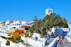 Discovering Santorini island Greece Royalty Free Stock Images
