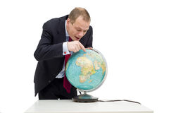 Discovering global business Royalty Free Stock Photos