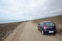 Discovering the island with rental car Stock Photography