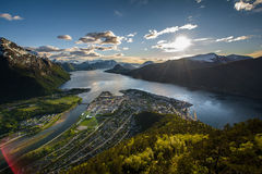 Discovering Norway. Beautiful Norway in a spring sunny day Stock Images