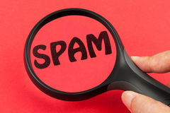 Discovering spam concept Royalty Free Stock Photography