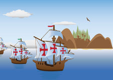 The discovery of America. Vector for you design Stock Photo