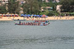 Discovery bay boat race Royalty Free Stock Photos