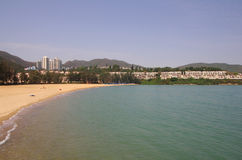 Discovery Bay. Is one of the most visited beaches on Lantau island in Hong Kong Stock Photo
