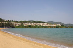 Discovery Bay. Is one of the most visited beaches on Lantau island in Hong Kong Royalty Free Stock Image
