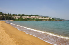 Discovery Bay. Is one of the most visited beaches on Lantau island in Hong Kong Royalty Free Stock Photography