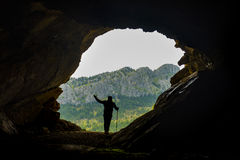 Discovery in the cave program Royalty Free Stock Photography