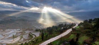 Discovery at Honghe Yunnan, China 2013. Discovery at Honghe Yunnan, China light of god Royalty Free Stock Photos