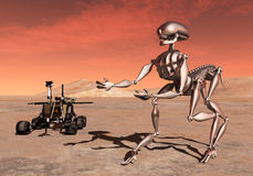 Discovery on Mars Royalty Free Stock Images