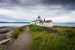 Discovery Park Lighthouse. Royalty Free Stock Photography
