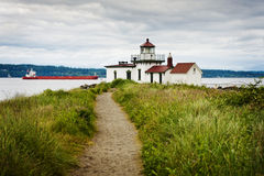 Discovery Park Lighthouse. Stock Photos