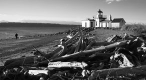 Discovery Park West Point Lighthouse Puget Sound Seattle Stock Photos