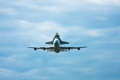 Discovery Shuttle Approach to Dulles Airport Royalty Free Stock Photos