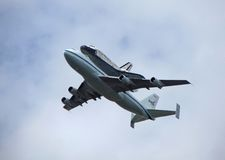 Discovery Shuttle Fly Over Stock Image