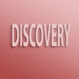 Discovery. Text on the wall or paper, discovery Stock Photos