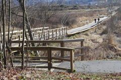 The Discovery Trail Boardwalk Royalty Free Stock Images