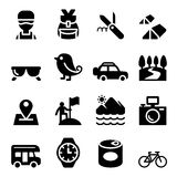 Discovery , Traveling , Camping , Adventure icons set Stock Photos