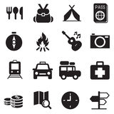 Discovery Traveling camping icons. Set Vector illustration graphic design symbol Royalty Free Stock Image