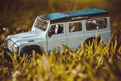 Discovery Trip. Of allroad jeep which conquers mountains royalty free stock image